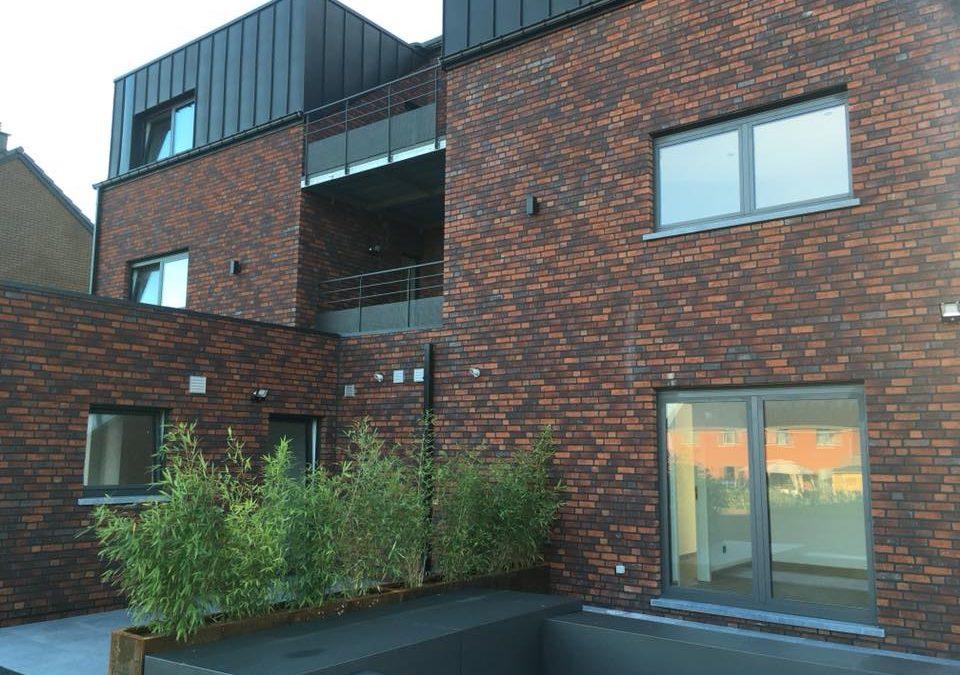 Toiture d'un nouveau bâtiment à Liège